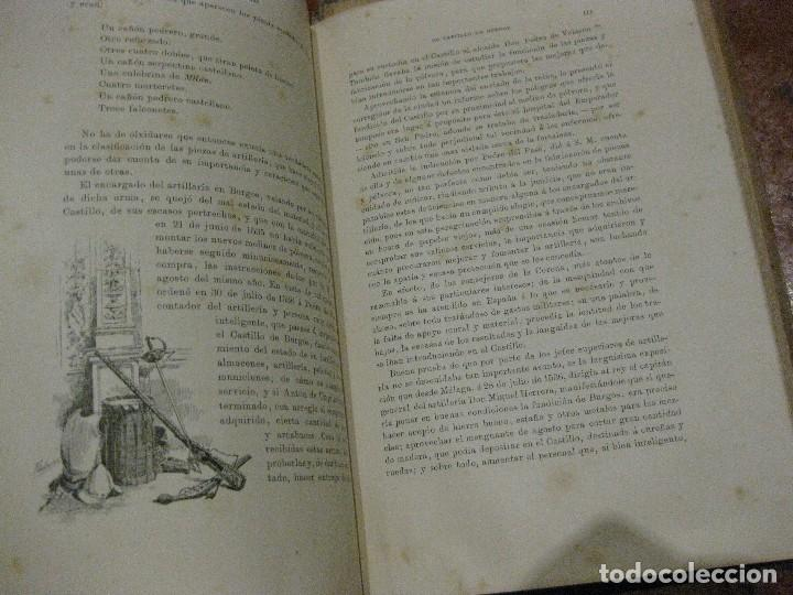 Libros antiguos: Monografia historica . el castillo de burgos . Eduardo de oliver .1893 il. barrio cortes . 226 pág - Foto 9 - 126212883