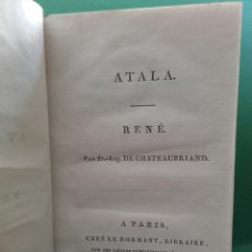 Libros antiguos: ATALA - RENÉ. POR CHATEAUBRIAND.. Lote 126238171