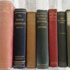 Libros antiguos: 7 LIBROS DE MÁS 100 AÑOS (1891-1916): ODISEA HOMERO, EURIPIDES, BERNARD SHAW, ENSAYOS LITERATURA.... Lote 126240807