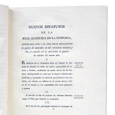 Libros antiguos: NUEVOS ESTATUTOS DE LA REAL ACADEMIA DE LA HISTORIA, 1792. BUEN PAPEL.. Lote 126246864