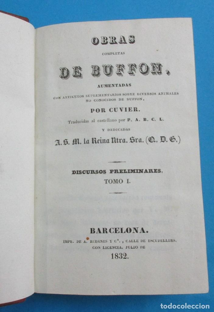 Libros antiguos: TEORÍA DE LA TIERRA. OBRAS DE BUFFON AUMENTADAS POR CUVIER. 6 TOMOS, 3 VOLÚMENES.1832. PIEL.COMPLETO - Foto 3 - 126260819