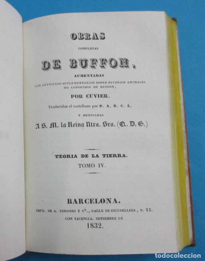Libros antiguos: TEORÍA DE LA TIERRA. OBRAS DE BUFFON AUMENTADAS POR CUVIER. 6 TOMOS, 3 VOLÚMENES.1832. PIEL.COMPLETO - Foto 6 - 126260819
