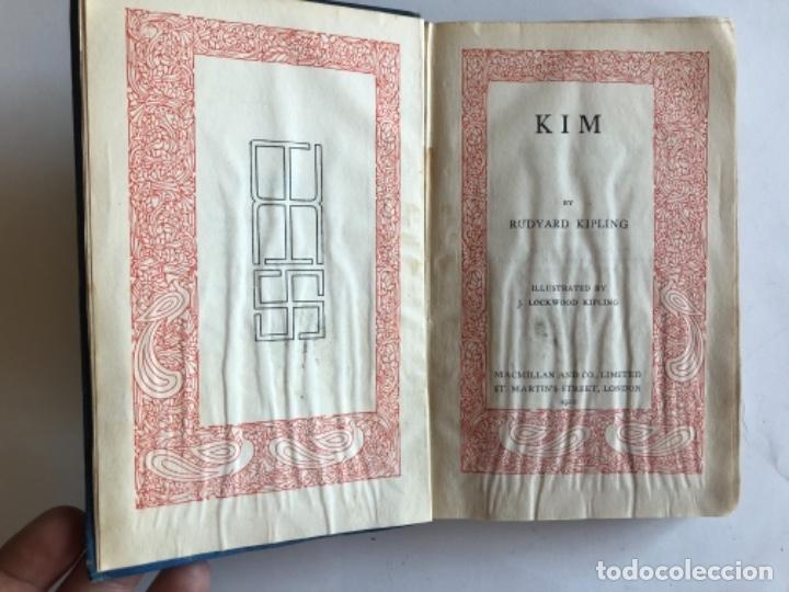 Libros antiguos: KIM BY RUDYARD KIPLING. ED. MACMILLAN &CO,1920. ILUSTRADO BY J. LOCKWOOD KIPLING. - Foto 3 - 126268847