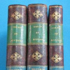 Libros antiguos: OBRAS DE BUFFON AUMENTADAS POR CUVIER.HISTORIA DEL HOMBRE. 5 TOMOS. 3 VOLÚMENES.1834. COMPLETO. PIEL. Lote 126268923