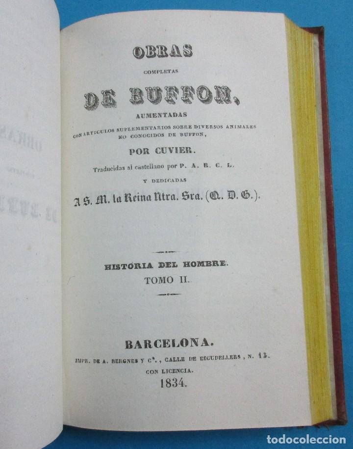 Libros antiguos: OBRAS DE BUFFON AUMENTADAS POR CUVIER.HISTORIA DEL HOMBRE. 5 TOMOS. 3 VOLÚMENES.1834. COMPLETO. PIEL - Foto 4 - 126268923