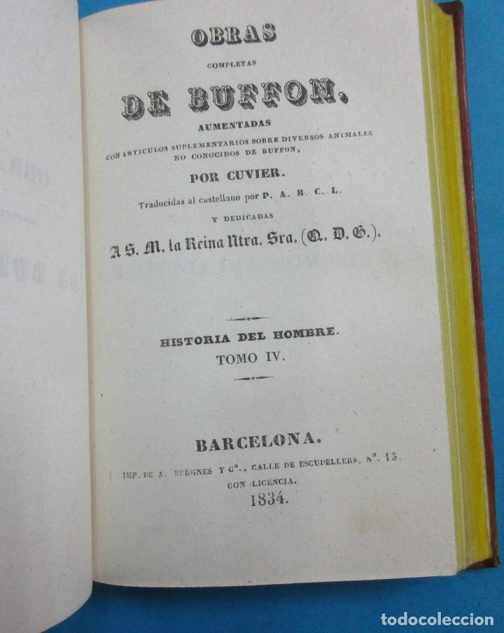 Libros antiguos: OBRAS DE BUFFON AUMENTADAS POR CUVIER.HISTORIA DEL HOMBRE. 5 TOMOS. 3 VOLÚMENES.1834. COMPLETO. PIEL - Foto 6 - 126268923