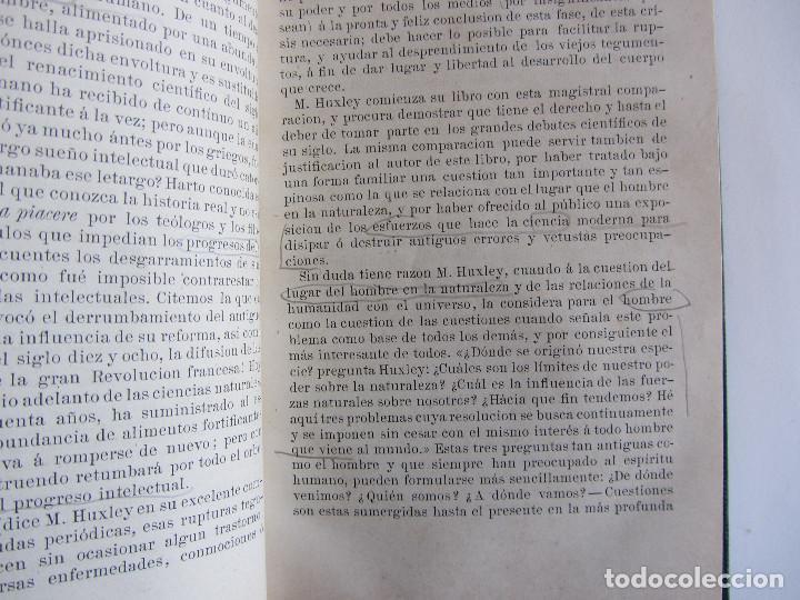 Libros antiguos: El hombre según la ciencia. Dr. Luis Büchner. Ed. Jané Hermanos. Ilustrado. Tapas duras - Foto 5 - 126285199