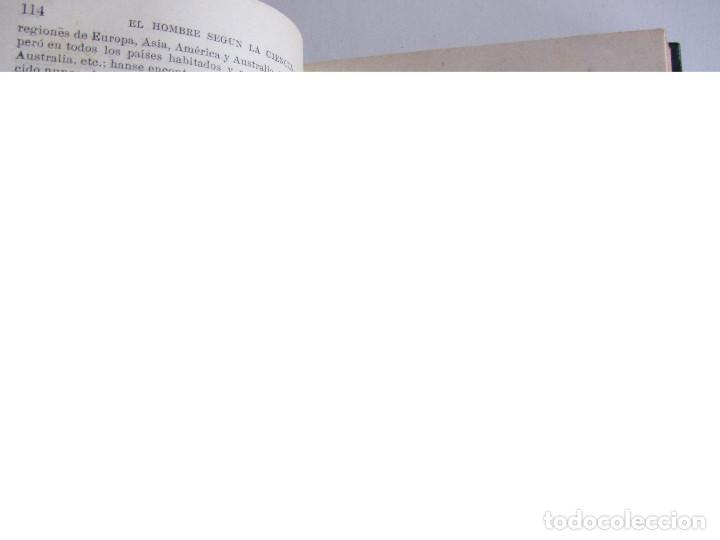 Libros antiguos: El hombre según la ciencia. Dr. Luis Büchner. Ed. Jané Hermanos. Ilustrado. Tapas duras - Foto 7 - 126285199
