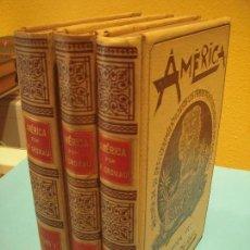 Libros antiguos: AMERICA, HISTORIA DE SU DESCUBRIMIENTO ... (3 TOMOS) - RODOLFO CRONAU - MUNTANER Y SIMON, 1892. Lote 126290387