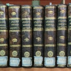 Libros antiguos: COMPENDIO DE HISTORIA UNIVERSAL. MR. ANQUETIL 14 TOMOS. COMPLETA. MADRID 1829/1834. PIEL.. Lote 126380263
