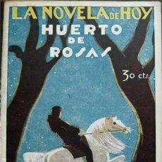 Libros antiguos: ESPINA, CONCHA. HUERTO DE ROSAS. NOVELA. 1929.. Lote 126451763