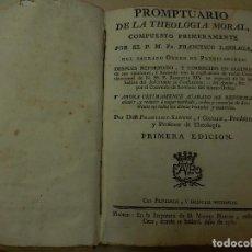 Libros antiguos: PROMPTUARIO DE LA THEOLOGIA MORAL…1780. PRIMERA EDICIÓN. MADRID.. Lote 126531899