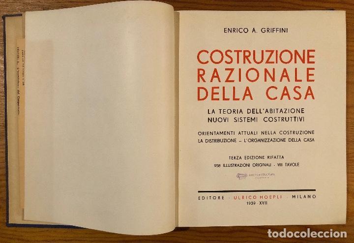 Libros antiguos: COSTRUZIONE RAZIONALE DELLA CASA(47€) - Foto 3 - 126561639