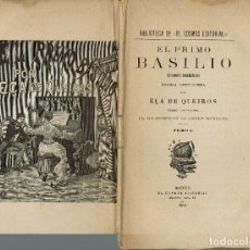 Libros antiguos: EL PRIMO BASILIO, POR EÇA DE QUEIROS. 2 TOMOS. AÑO 1884 (4.5). Lote 126663467