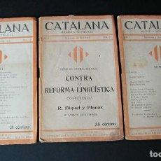 Libros antiguos: REVISTA MENSUAL CATALANA, JUNY, AGOST Y DESEMBRE 1918. Lote 126678587