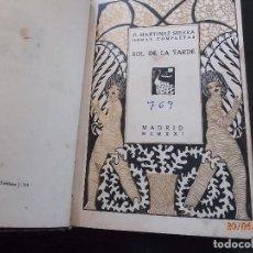 Libros antiguos: G.MARTINEZ SIERRA-SOL DE LA TARDE,1921. Lote 126710811
