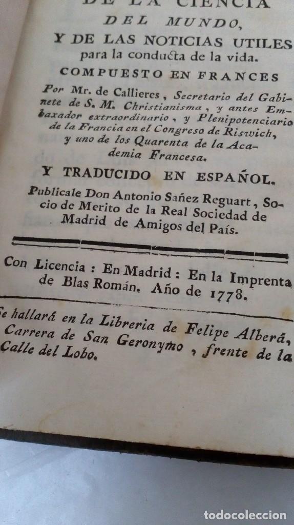 Libros antiguos: TRATADO DE LA CIENCIA DEL MUNDO. 1778 - Foto 2 - 126731127