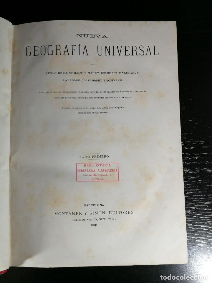 Libros antiguos: NUEVA GEOGRAFÍA UNIVERSAL , Obra Completa 1881 , Montaner y Simon , Barcelona. RARA ¡!!!!!!!!! - Foto 3 - 126860303