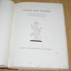 Libros antiguos: VENUS AND ADONIS SHAKESPEARE, WILLIAM-LEO HART,EE.UU.1931. Lote 127172087
