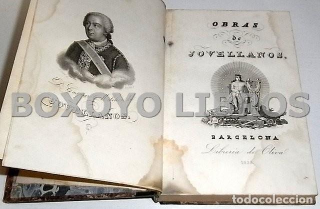 Libros antiguos: Obras del Excmo. Sr. Melchor Gaspar de Jovellanos. 8 tomos. 1839. Ilustradas con numerosas notas - Foto 4 - 47583095