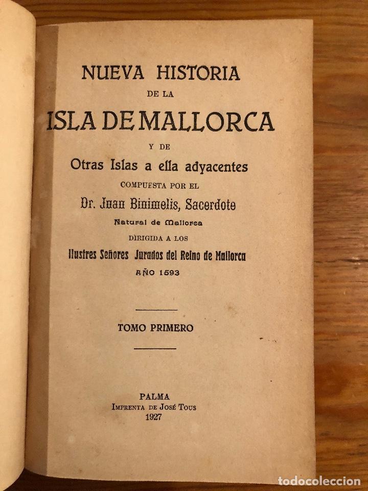 Libros antiguos: HISTORIA BALEAR-HISTORIA DE MALLORCA2TOMOS(59€) - Foto 2 - 127564987