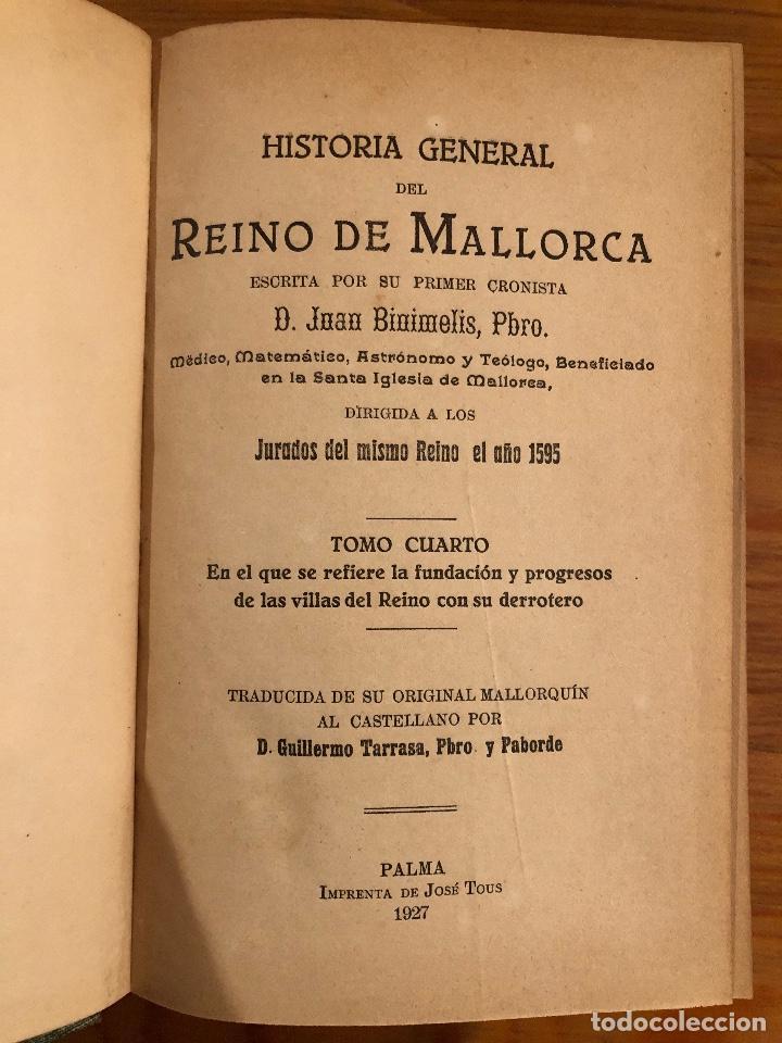Libros antiguos: HISTORIA BALEAR-HISTORIA DE MALLORCA2TOMOS(59€) - Foto 5 - 127564987