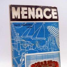 Libros antiguos: MENAGE, REVISTA DE COCINA 67. 2ª ÉPOCA. AÑO VI. GUERRA CIVIL (VVAA) REVISTA MENAGE, 1936. Lote 127622747
