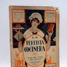 Libros antiguos: LA PERFECTA COCINERA ENTREGA N.º 38. ENCICLOPEDIA DE LA COCINA FAMILIAR (VVAA) EDITORIAL HOGAR, S/F. Lote 127622799