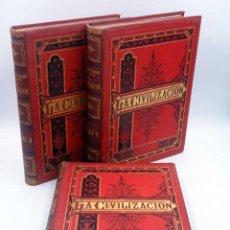 Libros antiguos: LA CIVILIZACION EN SUS MANIFESTACIONES ARTÍSTICAS COMPLETA 3 TOMOS (PELEGRÍN CASABÓ Y PAGÉS), 1881. Lote 127622939