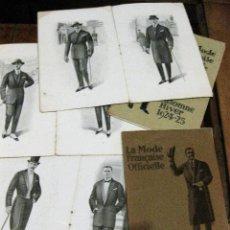 Libros antiguos: 5 CATALOGO MODA LA MODE FRANÇAISE OFFICIELLE 1923 - 24 -25 1926 FIGURINES SASTRE MODISTA . Lote 127678331