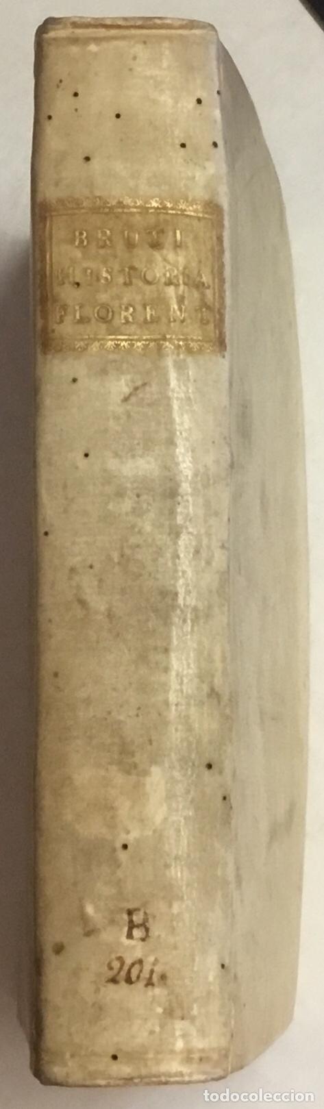 Libros antiguos: HISTORIAE FLORENTINAE LIBRI OCTO. Editio novissima, mendis omnibus expurgata cum Indice locupletissi - Foto 3 - 114798055