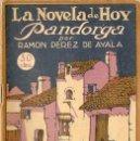 Libros antiguos: RAMÓN PÉREZ DE AYALA : PANDORGA (LA NOVELA DE HOY, 1922). Lote 127825031