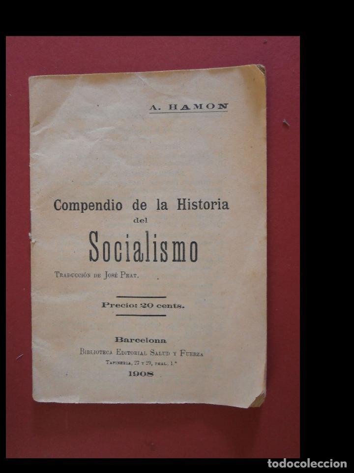 COMPENDIO DE LA HISTORIA DEL SOCIALIMO. A. HAMON (Libros Antiguos, Raros y Curiosos - Historia - Otros)