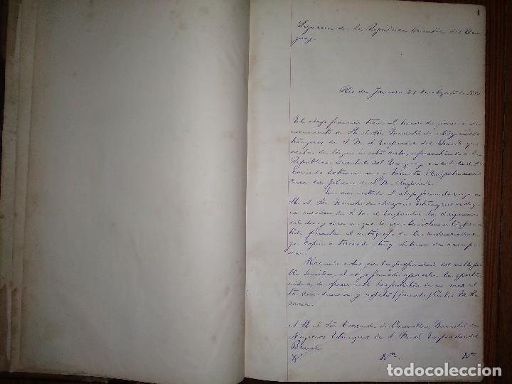 MANUSCRITOS DE CARLOS MARÍA RAMÍREZ DURANTE SU ETAPA EN LA LEGACIÓN ORIENTAL DEL URUGUAY 1873 - 75 (Libros Antiguos, Raros y Curiosos - Historia - Otros)