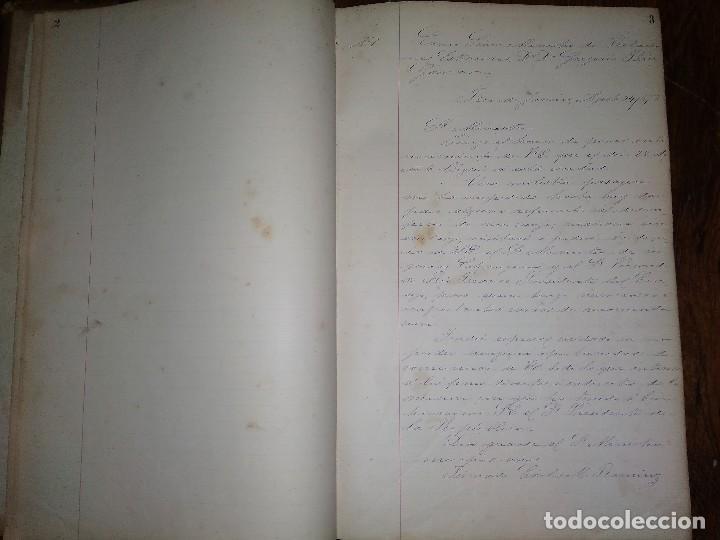 Libros antiguos: Manuscritos de Carlos María Ramírez durante su etapa en la Legación Oriental del Uruguay 1873 - 75 - Foto 2 - 127890103