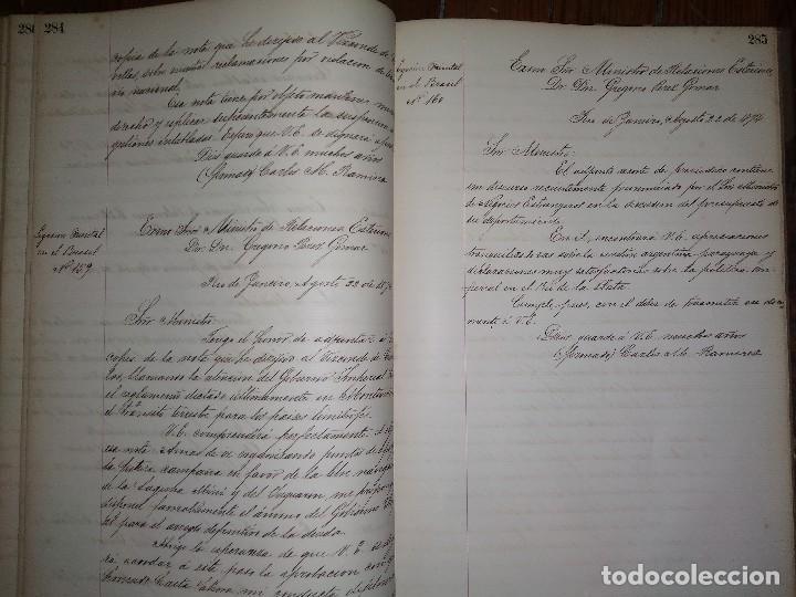 Libros antiguos: Manuscritos de Carlos María Ramírez durante su etapa en la Legación Oriental del Uruguay 1873 - 75 - Foto 3 - 127890103