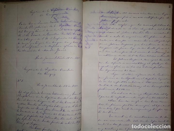 Libros antiguos: Manuscritos de Carlos María Ramírez durante su etapa en la Legación Oriental del Uruguay 1873 - 75 - Foto 4 - 127890103