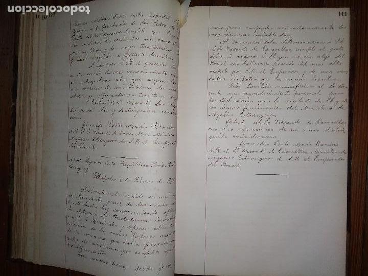 Libros antiguos: Manuscritos de Carlos María Ramírez durante su etapa en la Legación Oriental del Uruguay 1873 - 75 - Foto 6 - 127890103