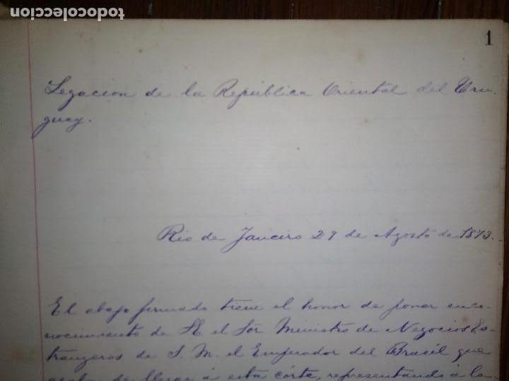 Libros antiguos: Manuscritos de Carlos María Ramírez durante su etapa en la Legación Oriental del Uruguay 1873 - 75 - Foto 7 - 127890103