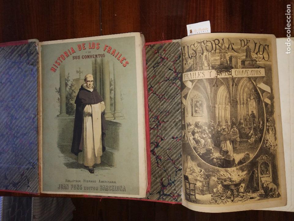 HISTORIA DE LOS FRAILES Y DE SUS CONVENTOS.ANTONIO R. ZORILLA. EDICIÓN LUJOSA. COMPLETA (2 VOL) S/F. (Libros Antiguos, Raros y Curiosos - Historia - Otros)