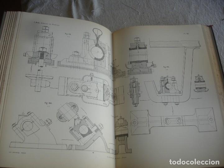 Libros antiguos: BACH, C.: ÉLÉMENTS DES MACHINES LEUR CALCUL ET LEUR CONSTRUCTION - Foto 6 - 127978647