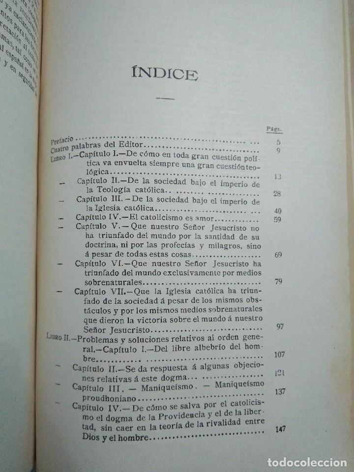 Libros antiguos: Obras escogidas de Juan Donoso Cortés. 1903. - Foto 5 - 127979235