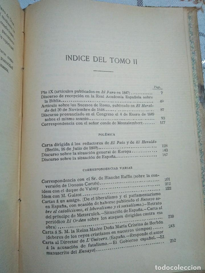 Libros antiguos: Obras escogidas de Juan Donoso Cortés. 1903. - Foto 7 - 127979235