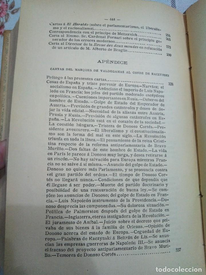 Libros antiguos: Obras escogidas de Juan Donoso Cortés. 1903. - Foto 8 - 127979235