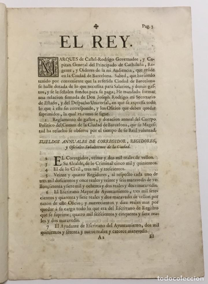 Libros antiguos: REAL CEDULA DE DOTACION, EN LA QUAL SU MAGESTAD ESTABLECE Y DECLARA EL NUEVO REGLAMENTO DE GASTOS AN - Foto 2 - 123269110