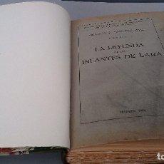 Libros antiguos: LA LEYENDA DE LOS INFANTES DE LARA-VOL. 1-R. MENÉNDEZ PIDAL-MADRID 1934-REIMPRESIÓN DE LA DE 1896. Lote 128010863