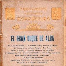 Libros antiguos: GARCÍA DEL REAL : EL GRAN DUQUE DE ALBA (LUIS TASSO, 1899). Lote 128123187