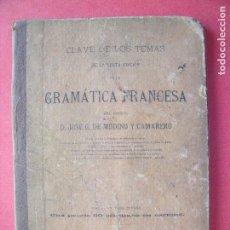 Libros antiguos: JOSE G. DE MODINO Y CAMARERO.-GRAMATICA FRANCESA.-MADRID.-AÑO 1884.. Lote 128174619