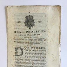 Libros antiguos: REAL PROVISION DE SU MAGESTAD Y SEÑORES DEL CONSEJO, EN QUE SE PRESCRIBEN LOS REQUISITOS QUE HAN DE . Lote 128219363