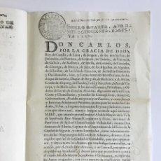 Libros antiguos: REAL CEDULA DE SU MAGESTAD Y SEÑORES DEL CONSEJO, POR LA QUAL SE MANDA QUE LOS CORONELES.... Lote 128220599